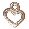 Charm Open Heart Rhodium